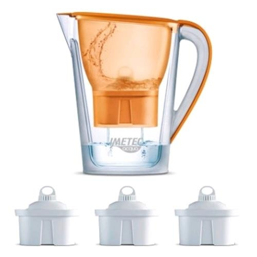 Afbeelding van Imetec Waterfilterkan WP120 Orange (Incl. 3 Waterfilters)